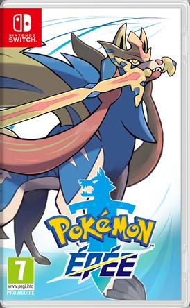 Boxart Pokémon Épée Nintendo Switch