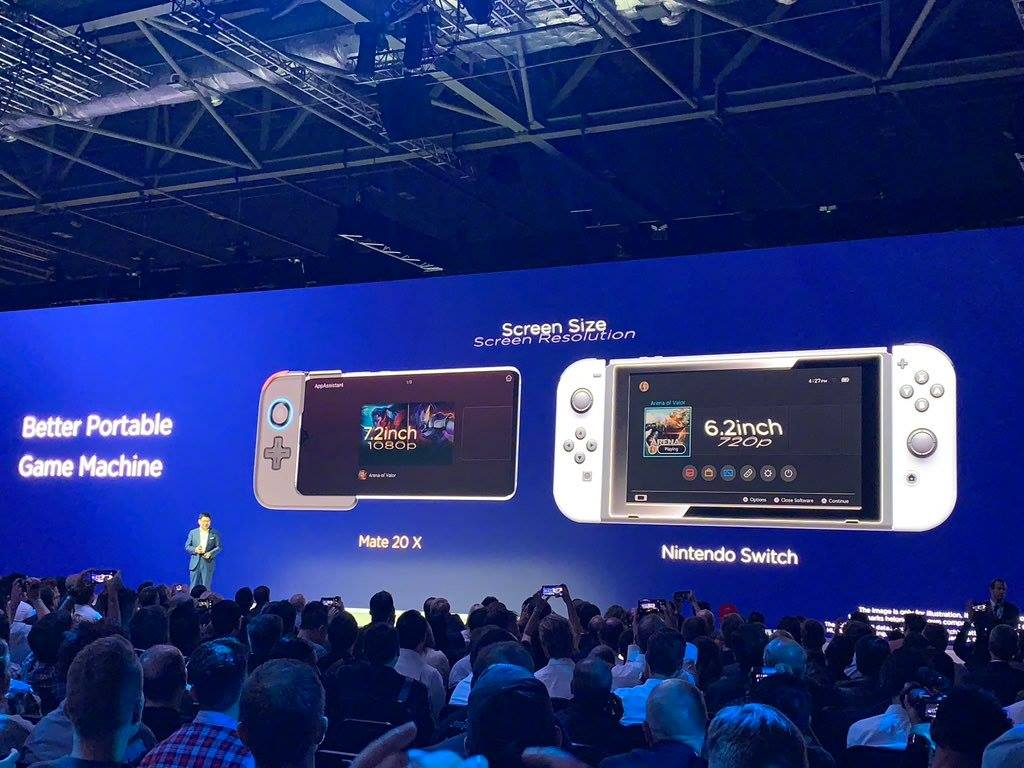 Huawei Mate 20 X et Nintendo Switch