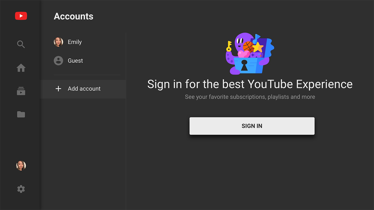 YouTube sur Nintendo Switch