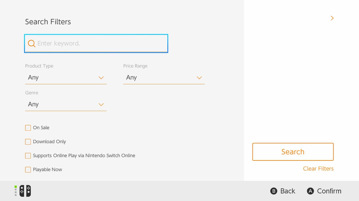 Mise à jour eShop Nintendo Switch
