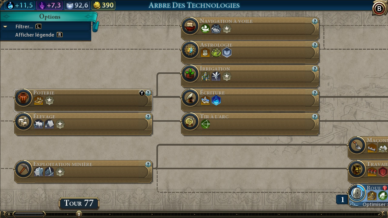 Civilization VI interface menus