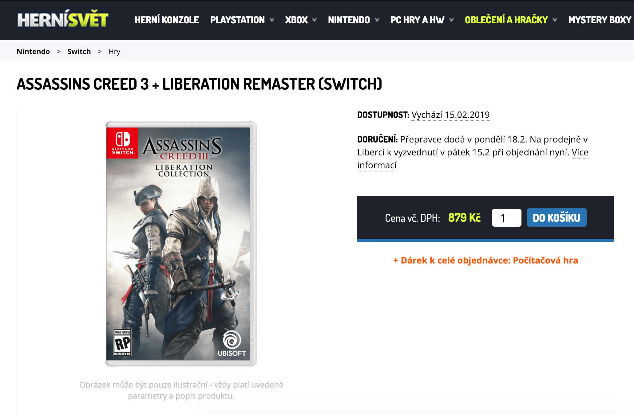 Assassin's Creed III + Liberation - Nintendo Switch