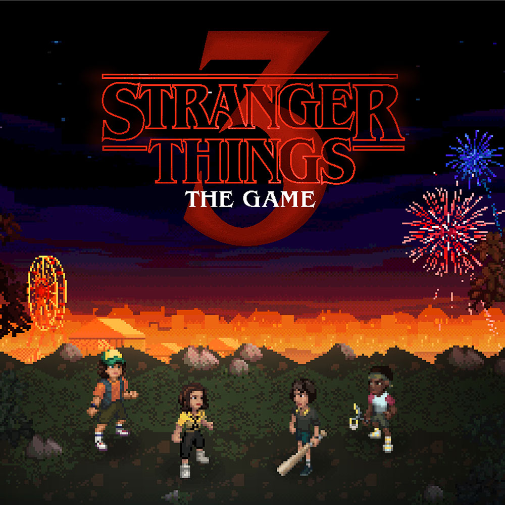 Stranger Things 3 The Game boxart