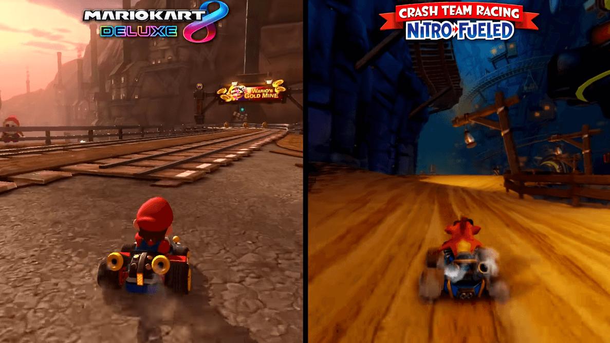 crash team racing vs mario kart
