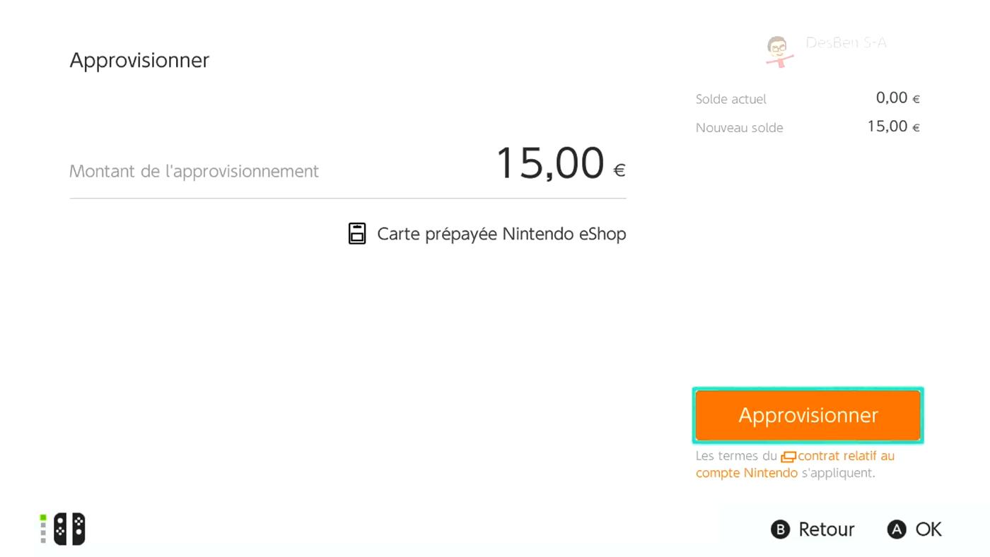 Acheter utiliser carte eShop Switch 4