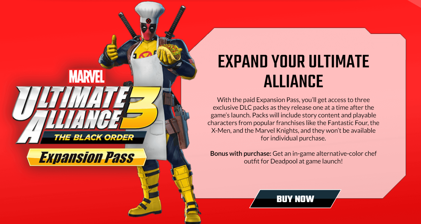 marvel ultimate alliance 3 dlc