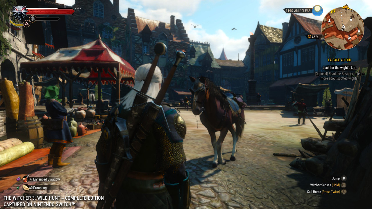 The Witcher 3 Nintendo Switch screenshot