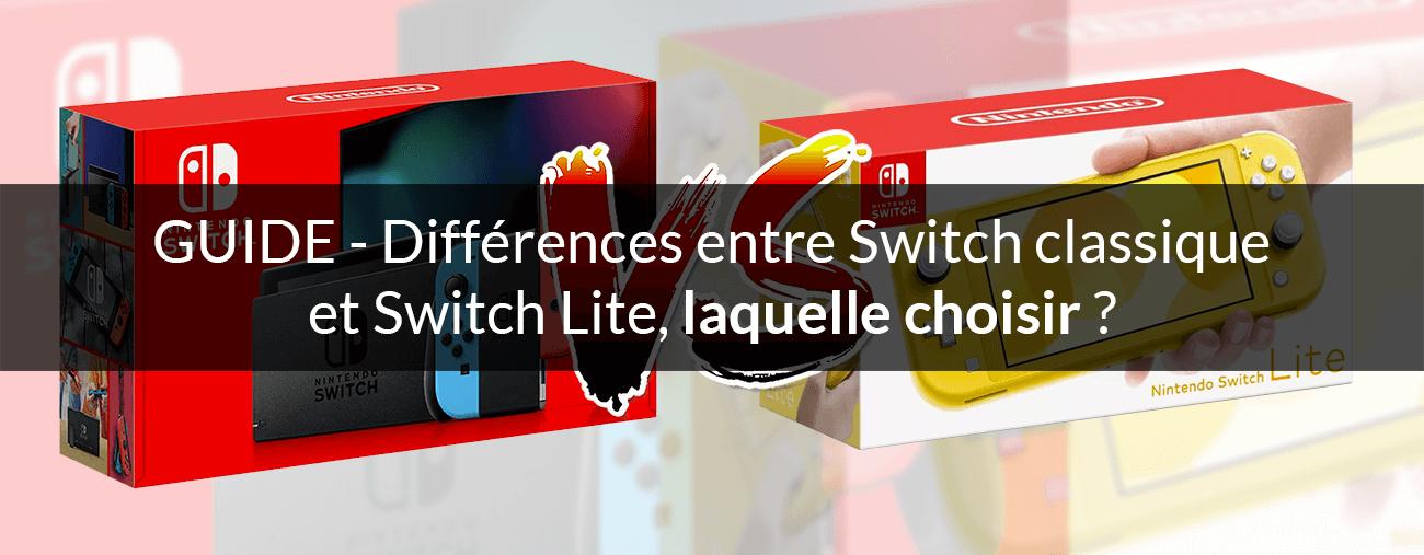 Nintendo Switch Lite laquelle choisir
