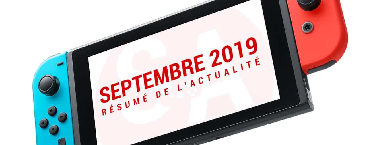 Résumé Nintendo Switch septembre 2019