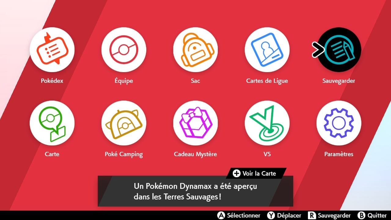 Pokémon Menu