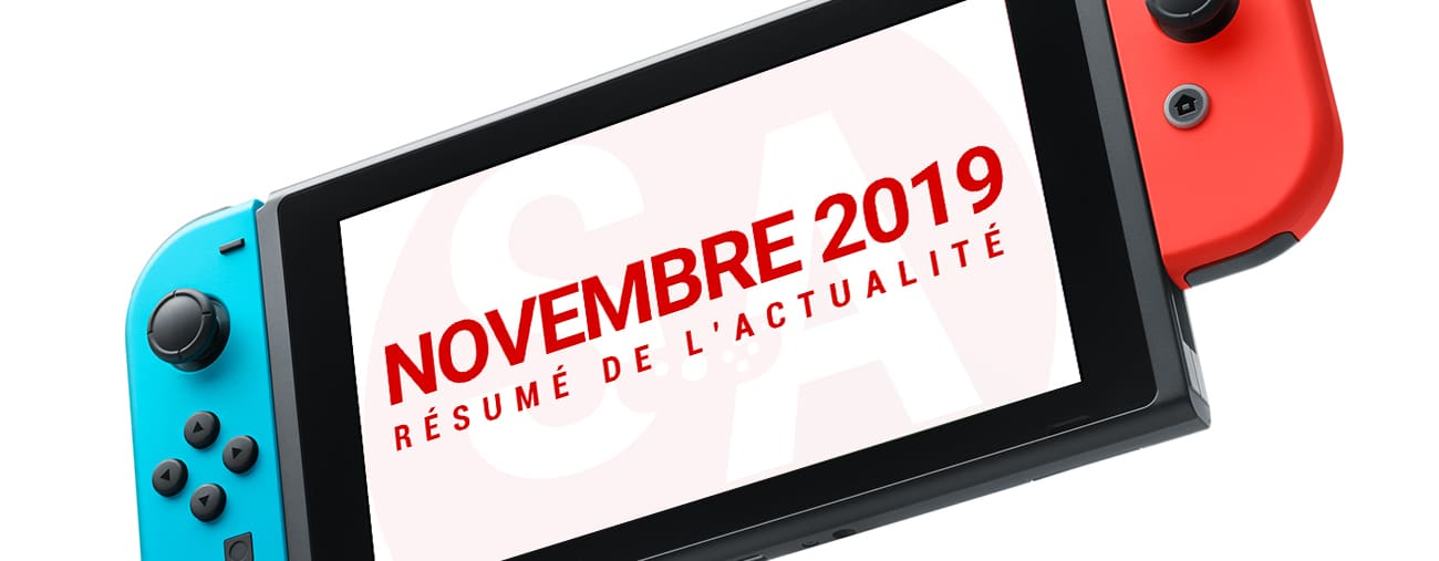 Résumé news Nintendo Switch novembre 2019