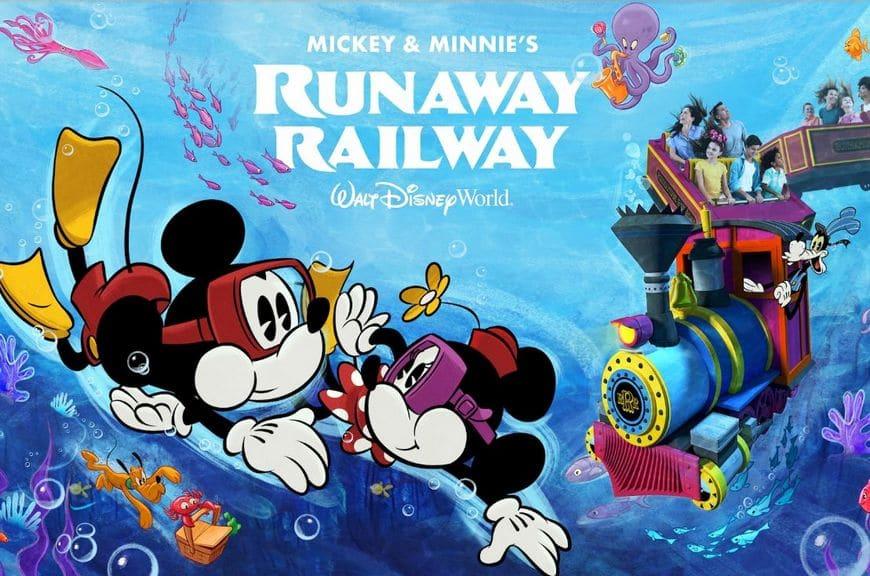 runaway railway new artwork walt disney world