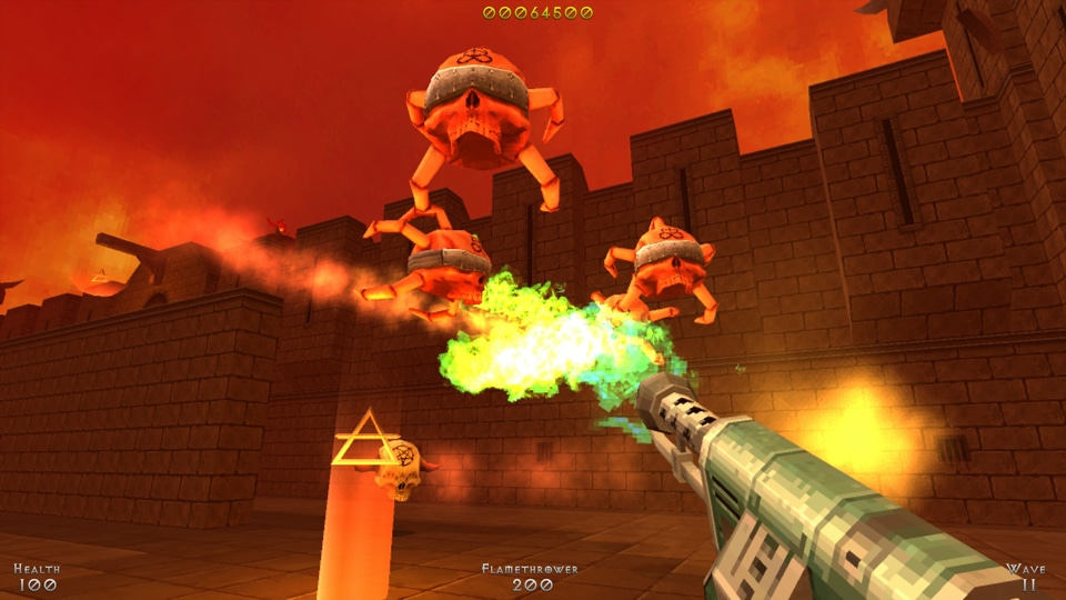 Demon Pit : lance flamme