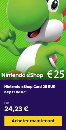 Nintendo eShop 25 euros