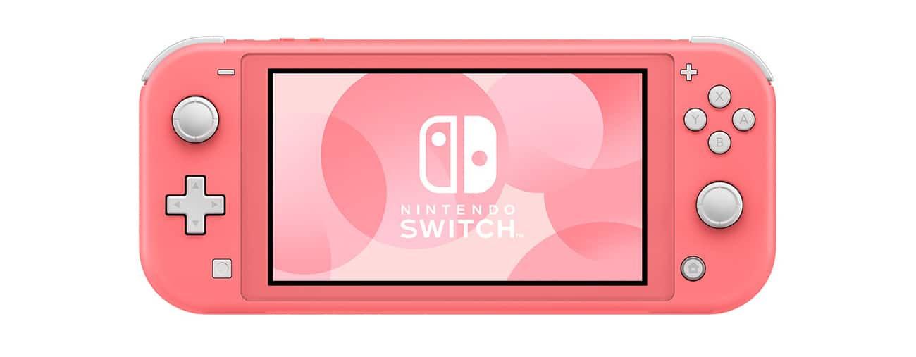 nintendo switch lite corail