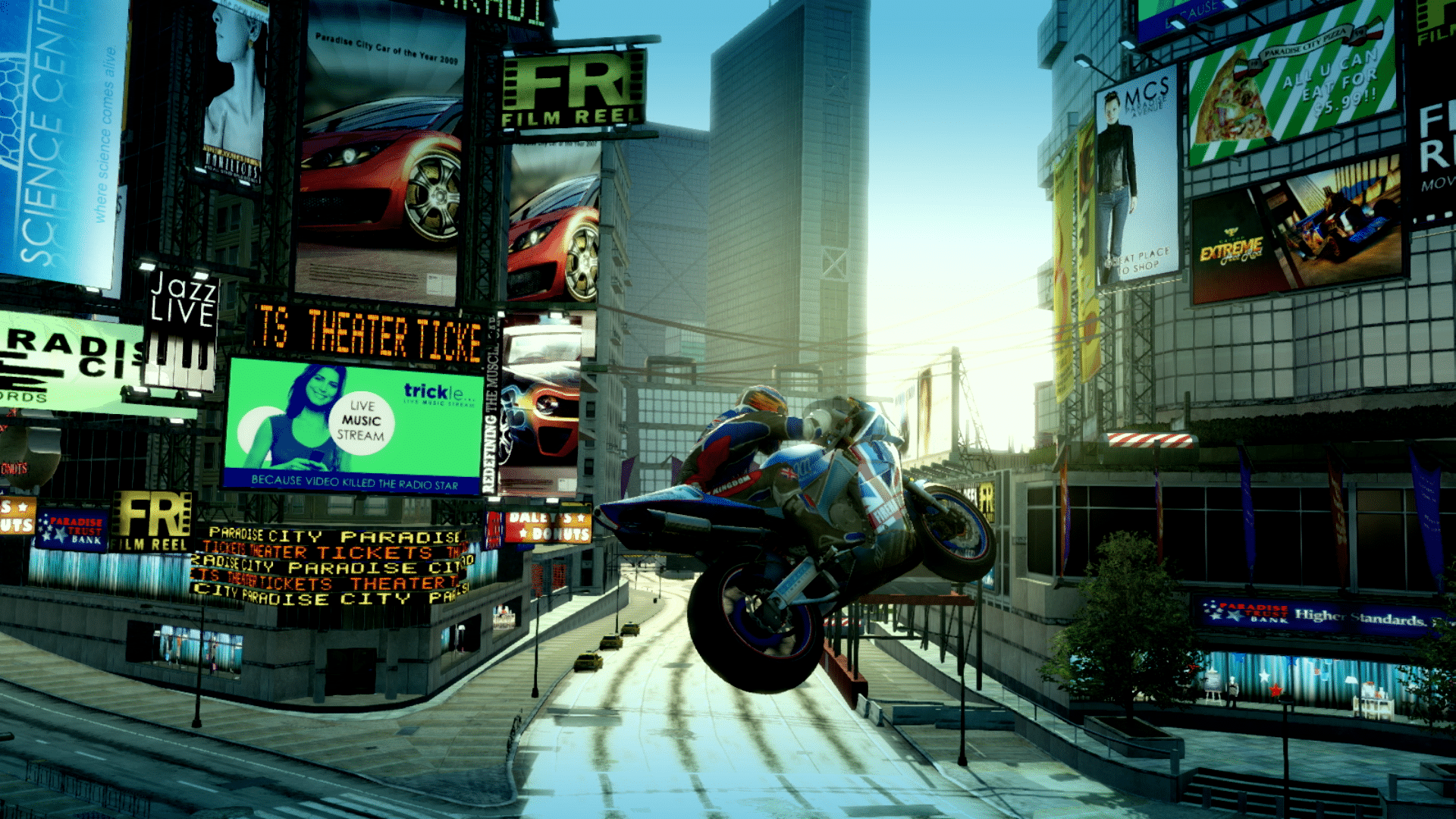 Burnout Paradise Remastered Nintendo Switch screen