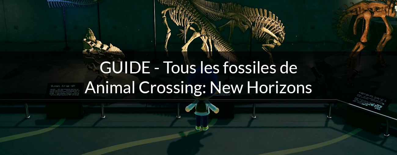 tous les fossiles animal crossing: new horizons