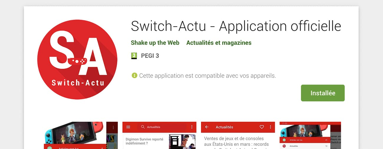 Application Switch-Actu Android