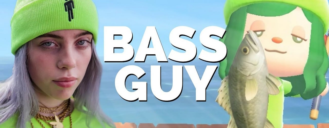 bass guy animal crossing new horizons billie eilish
