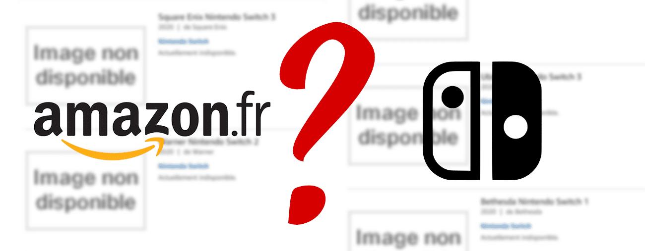 Amazon France liste des jeux Nintendo Switch