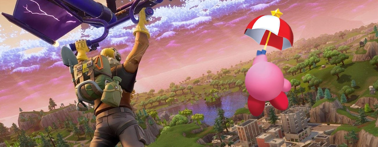kirby fortnite party royale