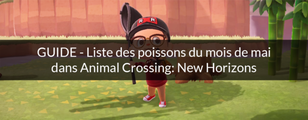 poissons mai animal crossing new horizons nintendo switch
