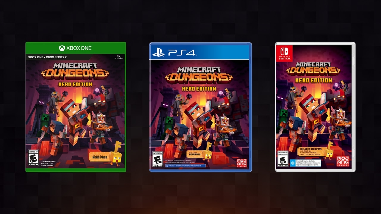 Minecraft Dungeons version physique Nintendo Switch