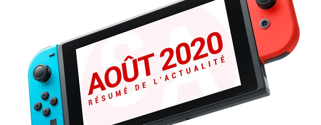 actualités Switch mois aout 2020