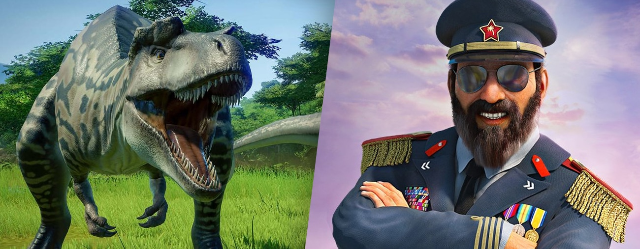 Du gameplay pour Jurassic World Evolution et Tropico 6 - VIDEO