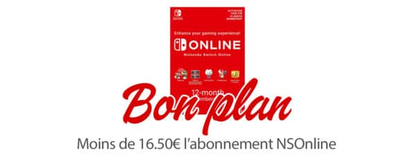 BON PLAN – L'abonnement Nintendo Switch Online à moins de 17,30€
