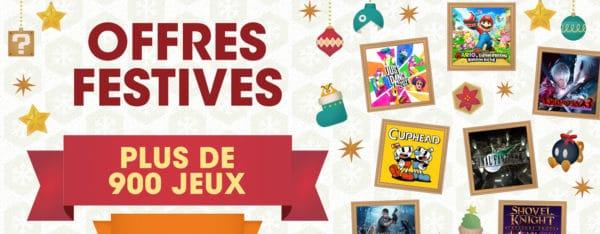 eShop - Plus de 900 jeux en promo sur Switch pour Noël