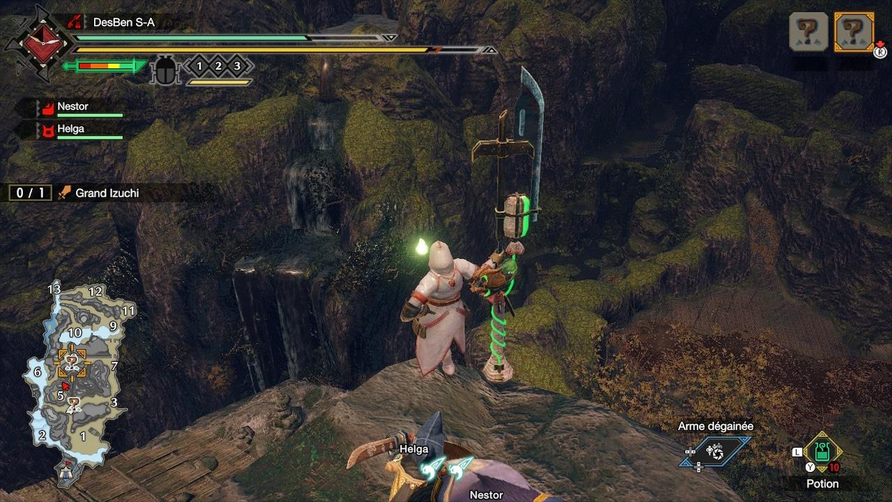 Capture d'écran Monster Hunter Rise Nintendo Switch