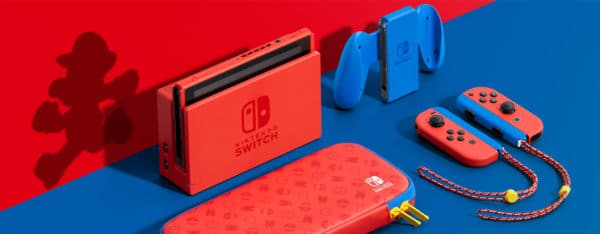 nintendo switch mario rouge bleu
