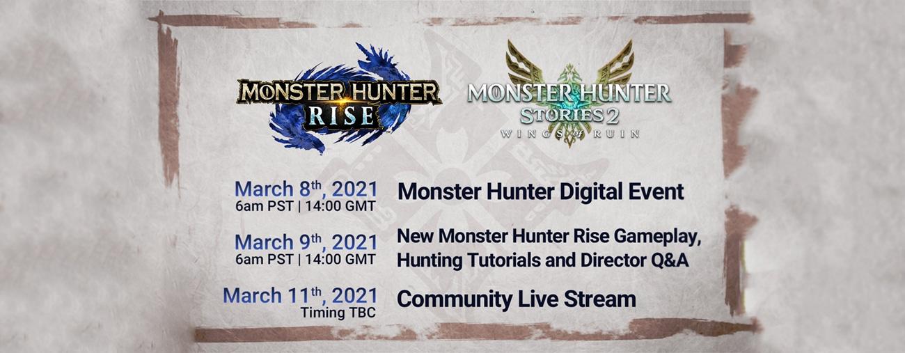 Trois présentations Monster Hunter en mars 2021