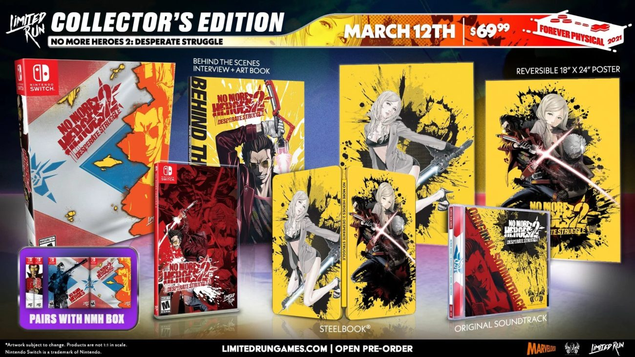 no more heroes 1 et 2 physique collector switch 2