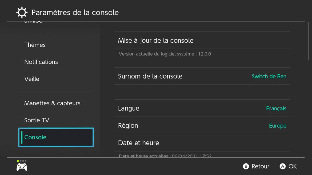 Comment mettre à jour Nintendo Switch