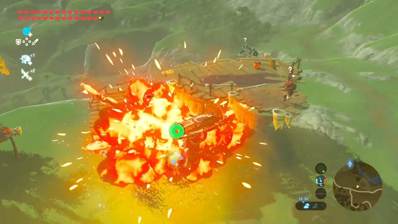 breath of the wild explosion