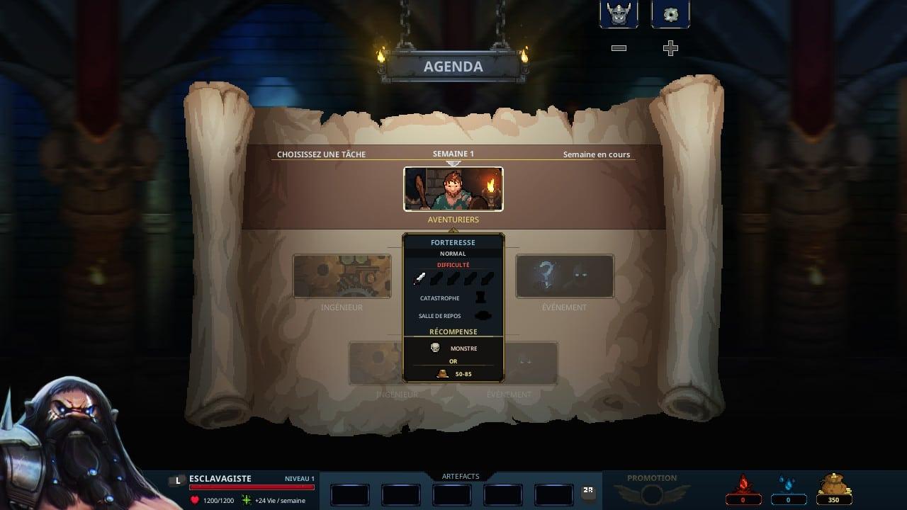 Legend of Keepers : agenda