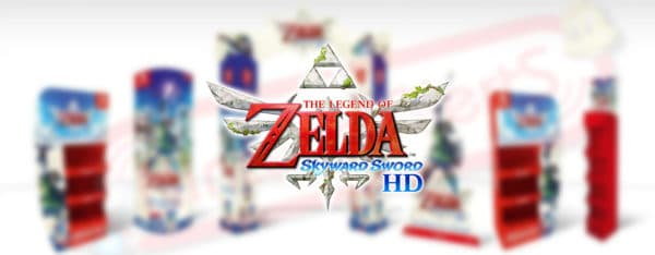 Des PLV Zelda Skyward Sword HD habilleront nos boutiques
