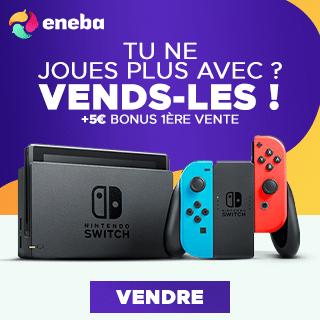 Eneba vente de jeux vidéo d'occasion entre particuliers
