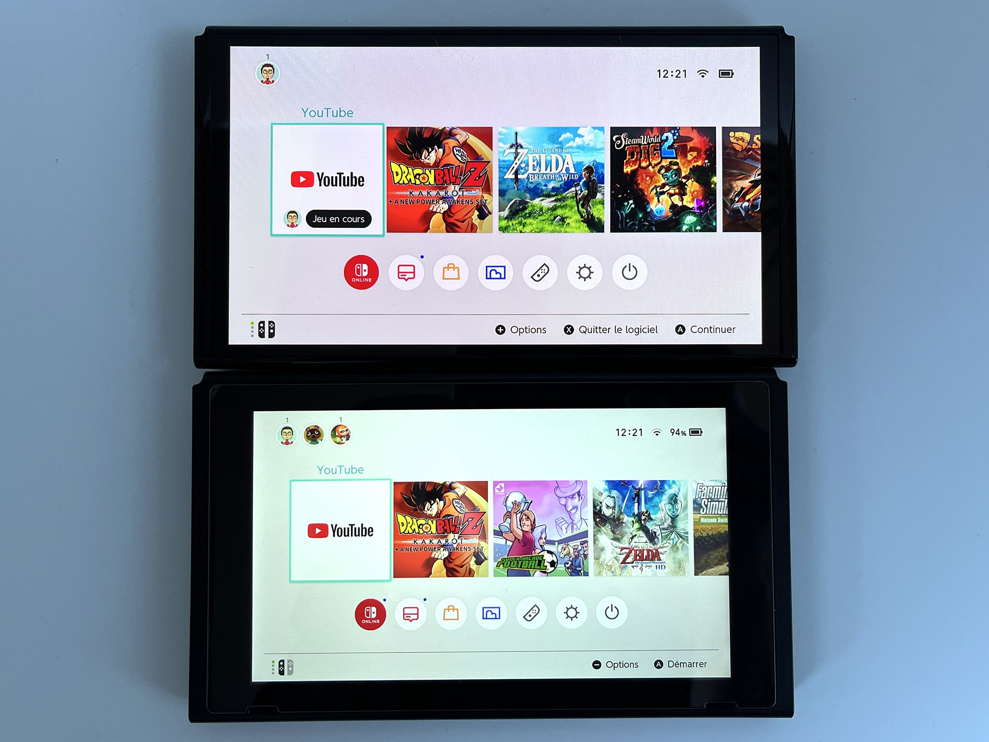 Comparaison Switch OLED vs Switch